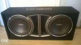 2x12inch 500watts Dixon Subs without box for sale