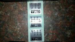 "Original OEM TRD Gear Shift Metal Stickers For All Toyota""s"