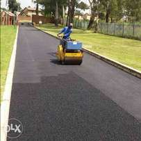 tar tennis courts drive ways new roads tarring