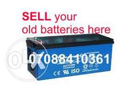 Old solar Batteries Ajao estate Isolo
