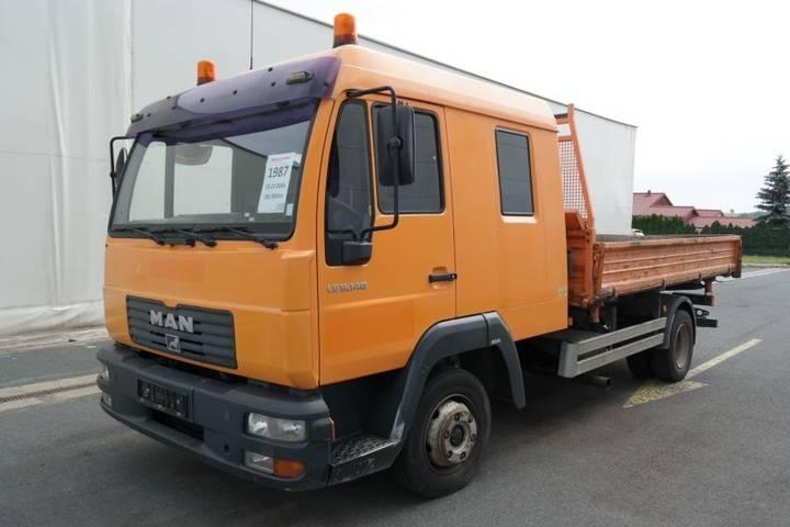 MAN Le 8.140 4x2 Bb Třístranný Sklápěč 7 Místný Euro 3 Flatbed - 2004