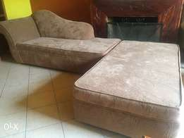 Brand New suede fabric 6 seater 2 pcs sofa set