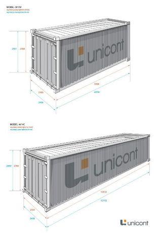 Ogromnie Kontener 40HC (12m) TANI TRANSPORT magazyn morski budowlany EE05