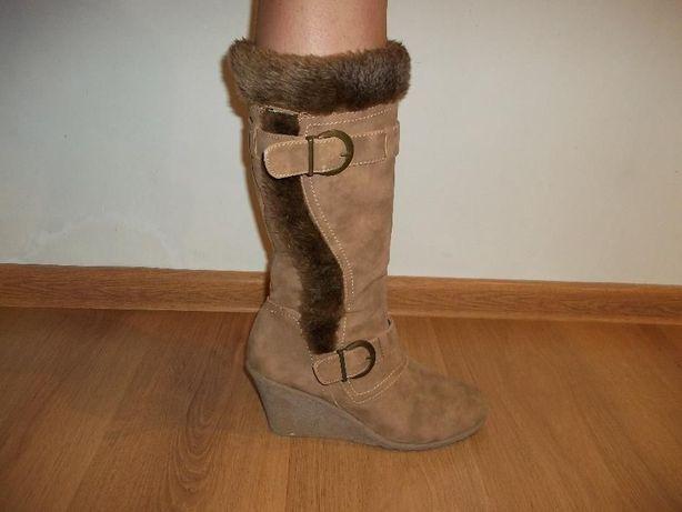 Жіночі замшеві чоботи демосезонні женские замшевые демисезонные сапоги  Батыев - изображение 5 617a3dfcac924