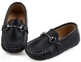 SKOEX Baby's Boy's Leather Slip On Loafers Boat Shoes