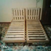 single wooden bed base