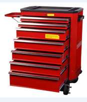7 Drawer tool cabinet with 217 tools professional mechanics tool kit
