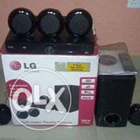 5.1 channel LG DVD Home Theaatre and woofer system with 300w