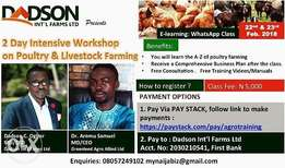2 Day Intensive Poultry and livestock training Workshop