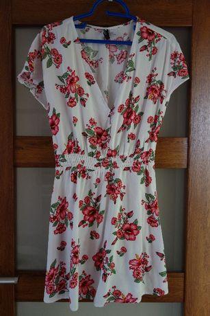 463f1ba025 Sukienka w kwiaty 38  M H M Łomża - image 1