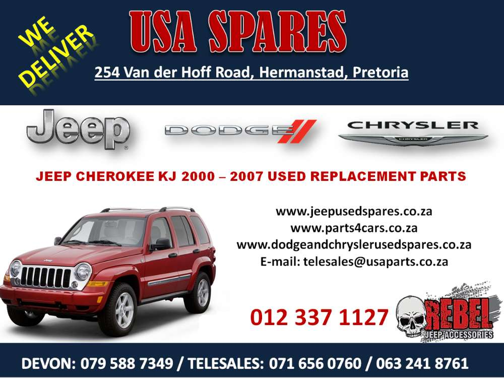 Jeep Cherokee Kj 2000 2007 Used Spares Used Parts For Sale Car Parts Accessories 1063711450