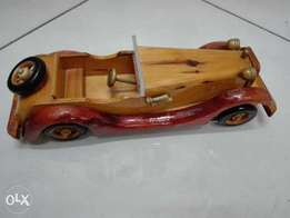 Very nice big wooden toy car hand made from germany