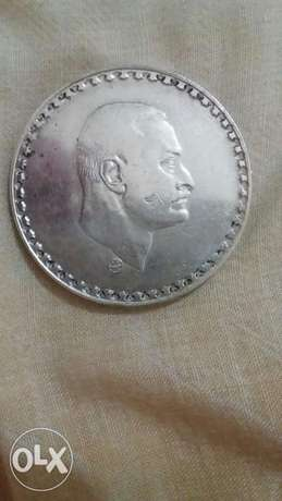 Jamal Abdul Naser Silver Large Coin 1 Pound Commemorative year 1970