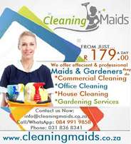 Cleaning Maids from just R179