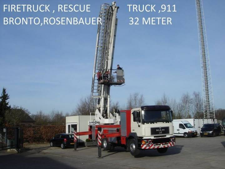 MAN Bronto , Rosenbauer , Skylift 32 Mtr ,firefigther , Resque - 2000