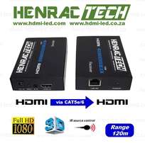 HDMI BALUN EXTENDER (pair), 120M single CAT cable, IP, IR Source Suppo