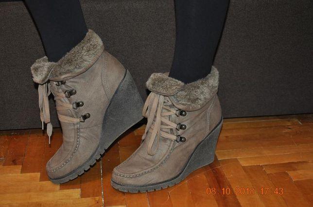 Замшеві демісезонні черевики на танкетці  300 грн. - Жіноче взуття ... 7aed838bfb86e