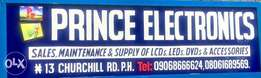 Prince Electronics deal on all LCDS and LEDS..sales and repairs