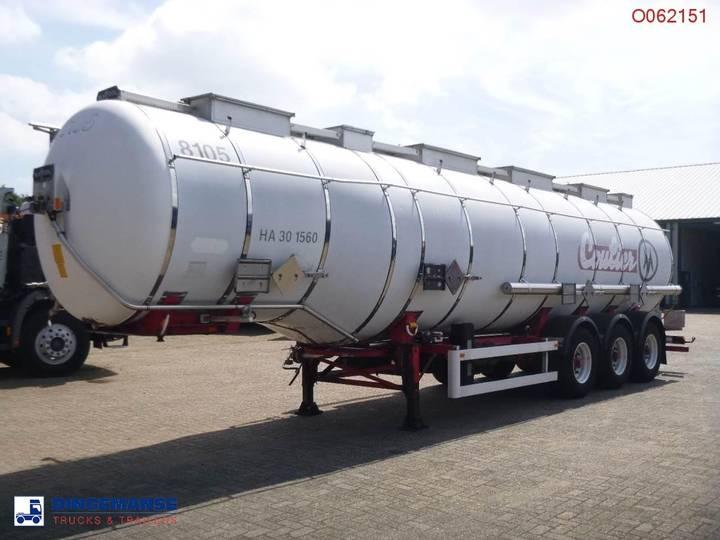 Van Hool Chemical tank inox 36.5 m3 / 4 comp. - 1994