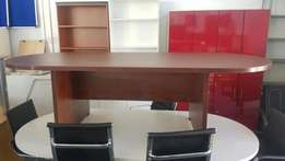 6 American Cherry Oval Boardroom Table available, CapeOffice2nds!!