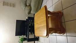 Solid Oak Wood Coffe Table for Sale