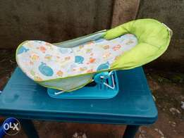 Deluxe infant bathing seat.