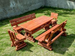 c28a4b4ff8b070 meble ogrodowe stół i dwie ławki