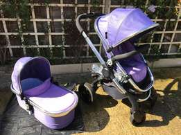Icandy peach 2 Parma Violet with carrycot