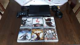 Ps3 Slim (Black) 500 gig console + Games