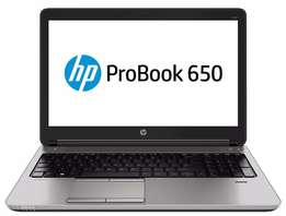 "HP Probook 650 G1""4th Gen i5 CPU""4GB Ram""15.6 HD Display""500GB SSHD"""