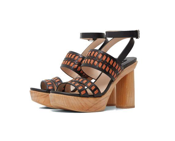 Inteligentny Buty słupek sandały drewniane platformy Mango 37 premium nowe MF18