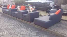Elegant Grey 9 Seater 6 seater and a sofa bed