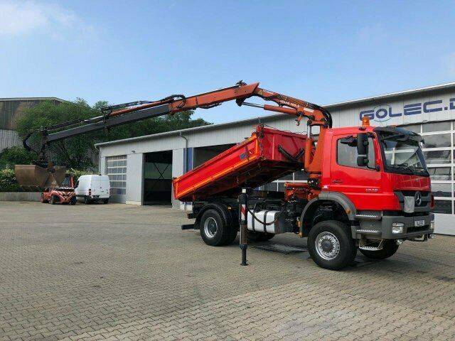 Mercedes-Benz AXOR 1829 4x4 Kipper Kran Atlas 105.2 - 2011