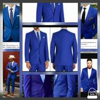 Royal blue wedding and official men suits. FREE DELIVERY.