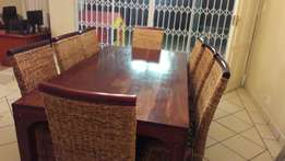 Rodecian Teak dining room table & chairs