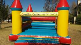 Jumping castle hire (standard) Centurion and helium balloons