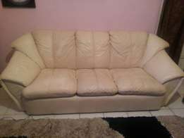 Five seater leather sofa