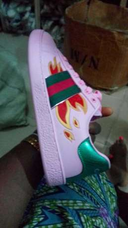 Gucci Ace Sneakers With Flames -Men Lagos Mainland - image 3