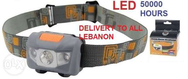 led head lamp last 5000 hour 3$ 20000 LL delivery to all lebanon