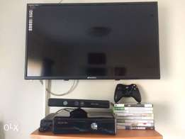 """Xbox Kinect combo with 32"""" Sansui led television and 7 games"""