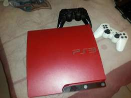 Ps³ red with games