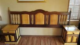 Yellow wood and Imbuia Bedroom Suite