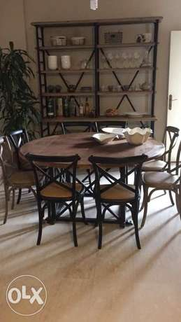 dinner room with 8 chairs