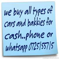 We buy cars and bakkies for cash