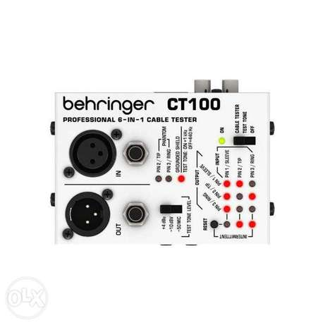 Behringer ct100 microprocessor controlled 6 in 1 cable tester