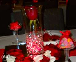 Decorative Red Water Beads for Vases/Centerpieces