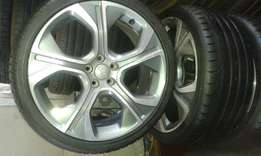 Aud 5by 100pcd with tyres 18""