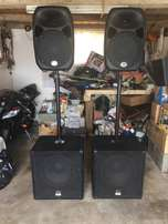 Wharfedale Pro Speakers - SVP 15PB & Titan 12D DJ Equipment