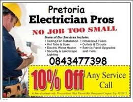 Fully qualified approved electrician, ELECTRICIAN PRETORIA