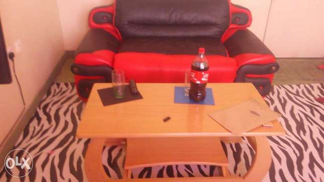 Leather coach 2seater and a coffee table Mombasa Island - image 4